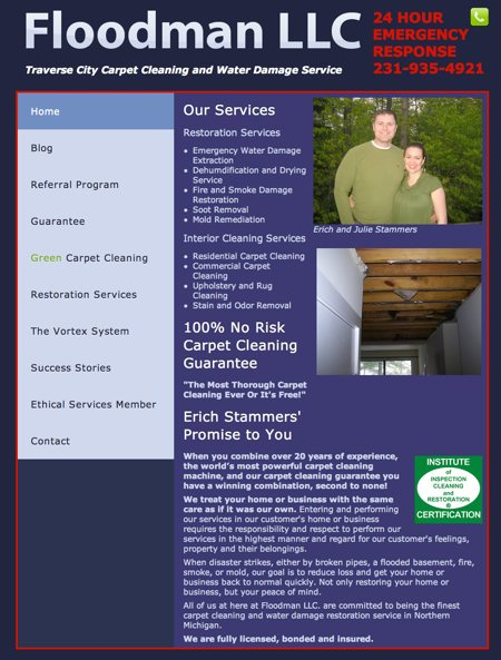 Recent Web Design Work : North by North Interactive Web Design